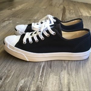 Converse Jack Purcell Black Canvas Low Top Shoes 8